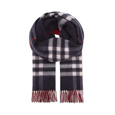 Burberry Cashmere Check Scarf Navy