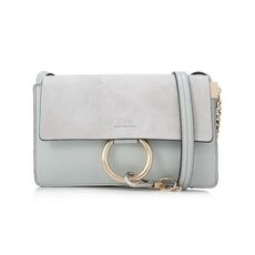 Chloé Faye Small Shoulder Bag Airy Grey