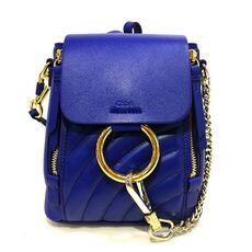 Chloe Mini Faye Backpack Majesty Blue