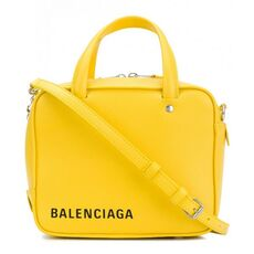 Balenciaga Triangle Square Xs Shoulder Bag Yellow