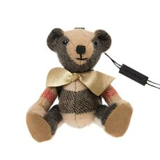 Burberry Thomas Bear With Rucksack Bag Charm Camel