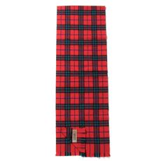 Burberry Check Cashmere Scarf Bright Red