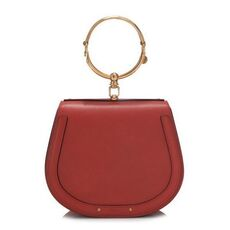 Chloe Medium Nile Bracelet In Smooth & Suede Calfskin Crossbody Bag Earthy Red