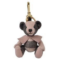 Burberry Thomas Bear Charm In Ash Rose Cashmere
