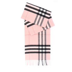 Burberry The Classic Check Cashmere Scarf Ash Rose