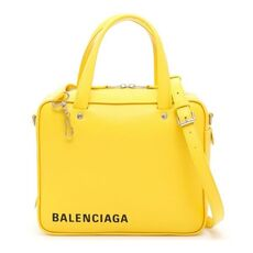 Balenciaga Triangle Square S Shoulder Bag Yellow