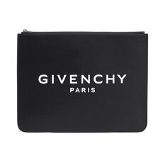 Givenchy Paris Large Zipped Pouch Bag Black