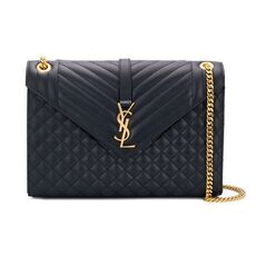 Saint Laurent Large Envelope Bag Navy