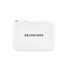 Balenciaga Everyday M Pouch Bag White