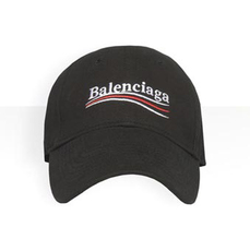 Balenciaga Classic Baseball Cap With Political Campaign Embroidered Logo Black