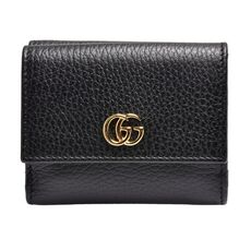 Gucci Gg Marmont Double Foldmini Wallet Black