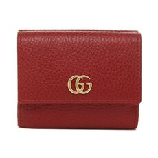 Gucci Gg Marmont Double Foldmini Wallet Red