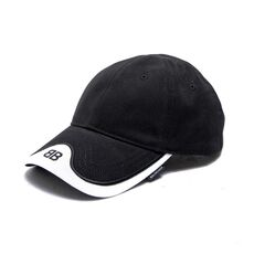 Balenciaga Classic Baseball Cap with BB Embroidered Logo Black/White