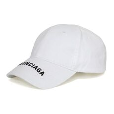 Balenciaga Classic Baseball Cap with Political Campaign Embroidered Logo White