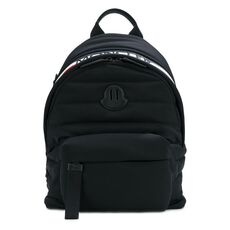 Moncler Logo Patch Padded Backpack Black