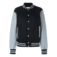 Night Market Stripe Neck Jacket Black