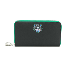 Kenzo Mini Tiger Zip Around Wallet Black