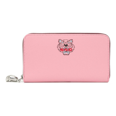 Kenzo Mini Tiger Zip Around Wallet Faded Pink