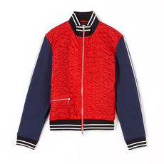 Kenzo Textured Teddy Jacket Red/Blue