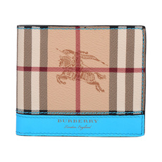 Burberry Horseferry Check Bi-Fold Wallet Bright Blue