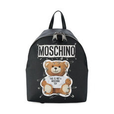 Moschino Safety Pin Teddy Medium Backpack Black