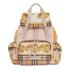 3ad94c3bd293 Burberry Archive Scarf Print Medium Rucksack Brown Pink