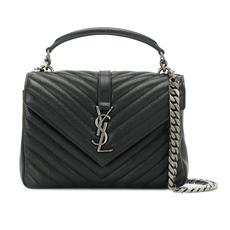 Saint Laurent College Medium Shoulder Bag Black
