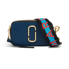 Marc Jacobs Logo Strap Snapshot Small Camera Bag Blue Sea Multi