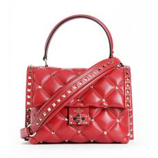 Valentino Garavani Candystud Top Handle Shoulder Bag Rosso
