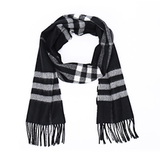 Burberry The Classic Check Cashmere Scarf Black Check