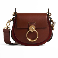 Chloé Small Tess Shoulder Bag Sepia Brown