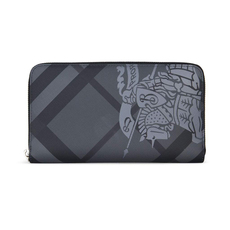 Burberry Ekd London Check Zip Around Wallet Charcoal/Black