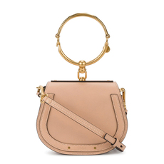 Chloé Small Nile Shoulder Bag Beige