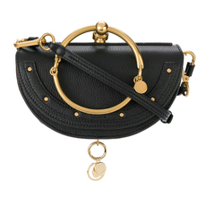 Chloe Small Nile Minaudiere In Smooth Calfskin Crossbody Bag Black