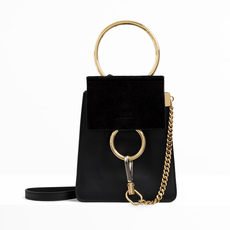 Chloe Faye Small Bracelet Crossbody Bag Black