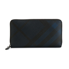 Burberry London Check Zip Around Wallet Navy/Black