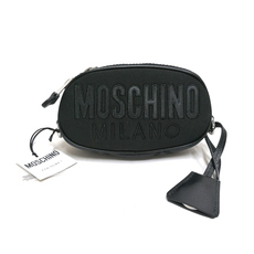 Moschino Quilted Logo Crossbody Bag Black/Black