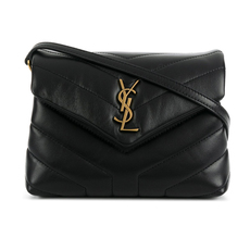 "Saint Laurent Matelasse ""Y"" Leather Loulou Toy Crossbody Bag Black"