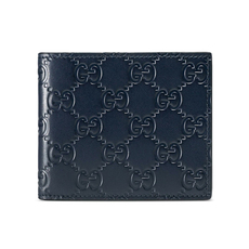 Gucci Signature Bi-Fold Wallet Blue