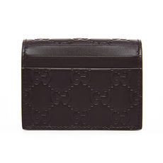 Gucci Gg Embossed Card Holder Brown
