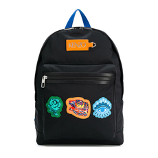 Kenzo Go Tigers Capsule Multi Icon Backpack Black