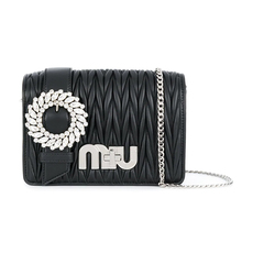 Miu Miu My Miu Shoulder Bag Black