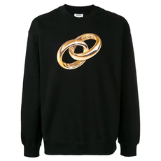 Kenzo Logo Wedding Ring Sweatshirt Black