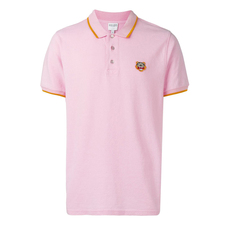 Kenzo Fitted Tiger Polo Tee Rose Pastel