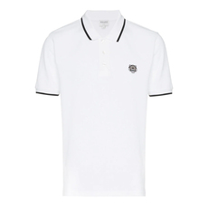 Kenzo Fitted Tiger Polo Tee White