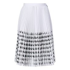 Msgm Star Pleated Skirt Black/White