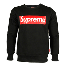 Supreme Spain Red Printed Boxlogo Sweatshirt Black