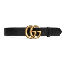 Gucci Double G Buckle Belt Black/Gold