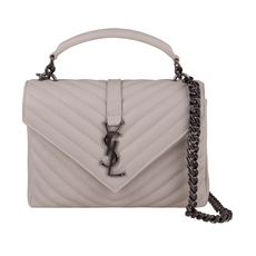 Saint Laurent College Medium Shoulder Bag Beige