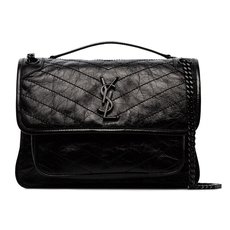 Saint Laurent Niki Medium Shoulder Bag Black